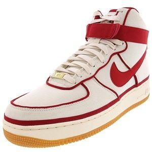 Nike Air Force 1 One High Sail Red 806403-101 AF1